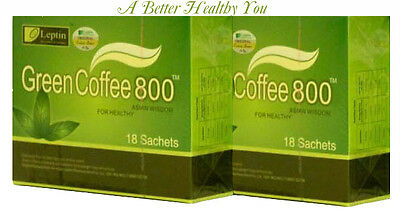 Original Leptin Green Coffee 800  Weight Management, - 2 Boxes