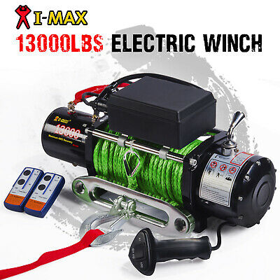 12V Wireless Synthetic Green Rope 13000LBS/5897KGS Electric Winch 4WD 4x4 Boat