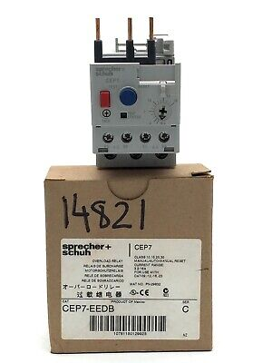 Sprecher+Schuh CEP7-EEDB Thermal Overload Relay 600V 3.2-16A 3 Pole CEP7