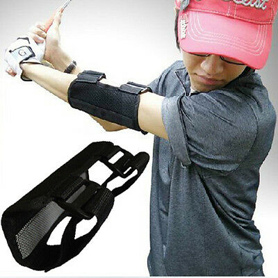 Golf Swing Training Straight Practice Aids Golf Elbow Brace Arc Support Band