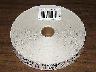"Roll Tickets Admit One Tickets - 6 1/8"" diameter"