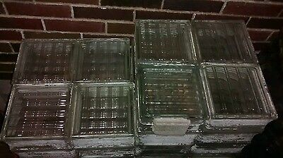 Vintage Architectural Glass Building Block reclaimed used art deco 8 x 8 x 4