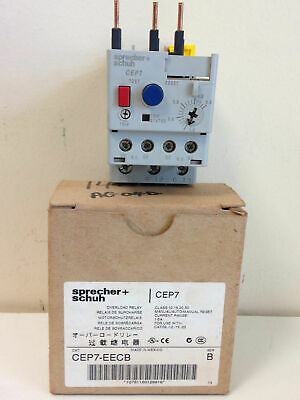 Sprecher+Schuh Thermal Overload Relay CEP7-EECB 600V 1- 5A 3 Pole CEP7