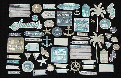 Kaisercraft 'SANDY TOES' Collectables Die Cut Shapes Beach/Surf *NEW* KAISER