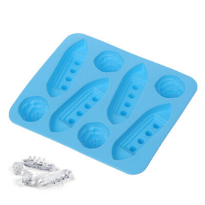 Silicone Ice Cube Trays Mold Mould Carving Maker Titanic Shaped For Party Drinks