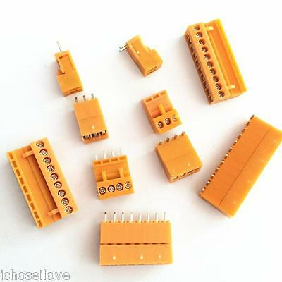 Orange HT3.96 3.96mm Straight / Right-Angle Pluggable Screw Terminal Connector