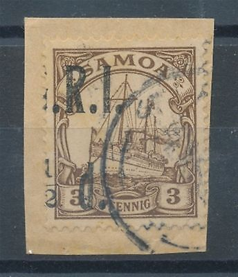 10941) SAMOA NZ OCCUP. 1914,SG No. 101 PIECE, VARIETY: MISSPLACED OVPT., EXPER-