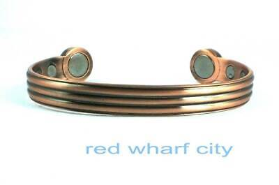 Ladies High Strength Solid Copper Bio Magnetic Bangle For Arthritis Pain & Golf