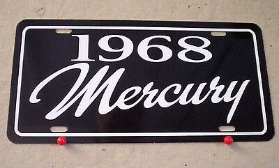1968 Mercury license plate tag 68 Cougar Cyclone Park Lane Monterey Montego