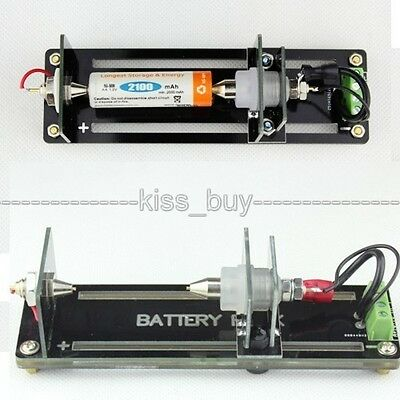 4-wire Test Stand Battery Holder for 26650,18650, AA, AAA, Button Battery 5A