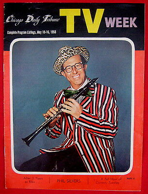 Phil Silvers 1958 TV Week guide MINT COND Chicago Tv listings