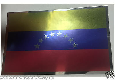 VENEZUELA FLAG Decal Vinyl Sticker chrome or white vinyl decal and 15 sizes!