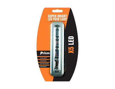 ProBite LED Strip Push Light Bright with 5 LED Battery Operated Bulb for Kitchen