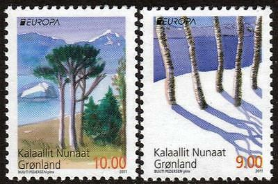 Greenland Mnh 2011 Europa - Forests Set Of 2