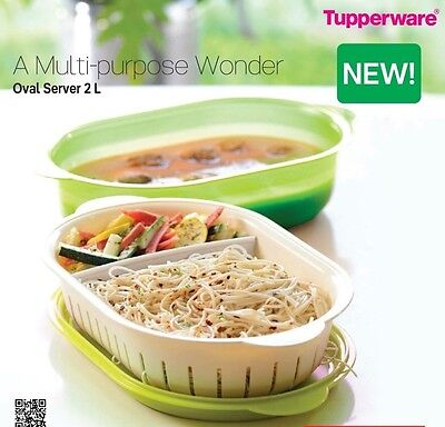 Brand New Tupperware 2L Oval Server -a Multipurpose Wonder - Free Shipping