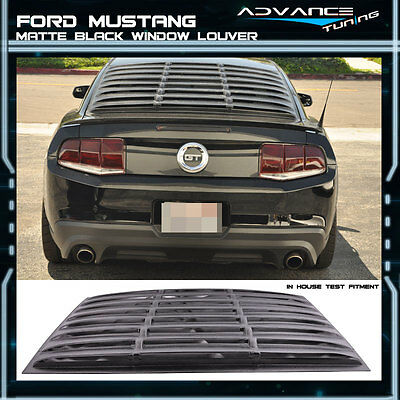 2005-2014 Ford Mustang Rear Window Louver Matte Black Cover ABS