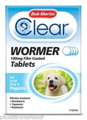 Bob Martin wormer puppies small dog all in one worm tablets 100mg dewormer