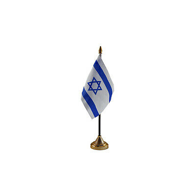 Israel Table Desk Flag - 10 x 15 cm National Country Hand Asia