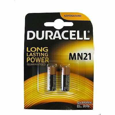2 x DURACELL SECURITY MN21 23A 23AE A23 V23GA 12v ALKALINE BATTERY EXP 2019