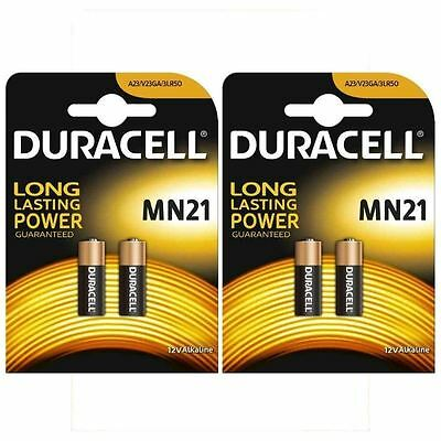 4 x DURACELL SECURITY MN21 23A 23AE A23 V23GA 12v ALKALINE BATTERY EXP 2019