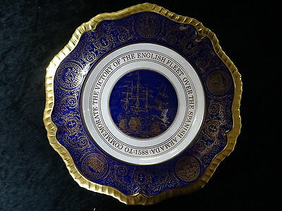 Caverswall Limited Edition Plate 27/150: 400 Year Anniversary of Spanish Armada