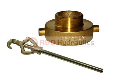 """FIRE HYDRANT ADAPTER COMBO 2-1/2"""" NST(F) x 1-1/2"""" NST (M) w/Hydrant Wrench"""