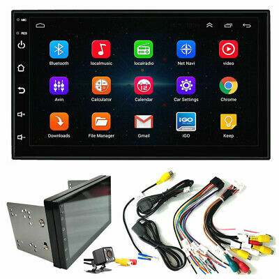 """Quad Core Android 9.1 7"""" In Dash 2Din Car Radio Player GPS Navigation TV+Camera"""