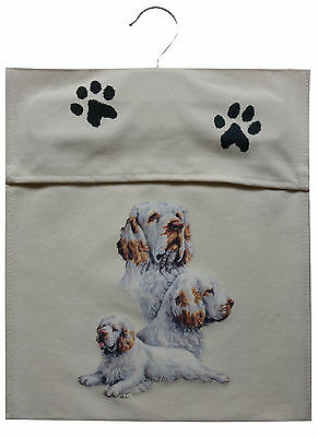 Clumber Spaniel Sturdy Natural Cotton Canvas Peg Bag Useful Gift