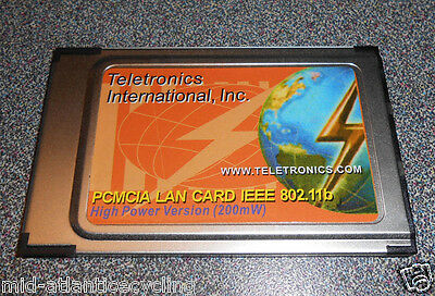 Teletronics 802.11b PCMIA LAN CARD 200mW 11Mbps Wireless - Free Shipping