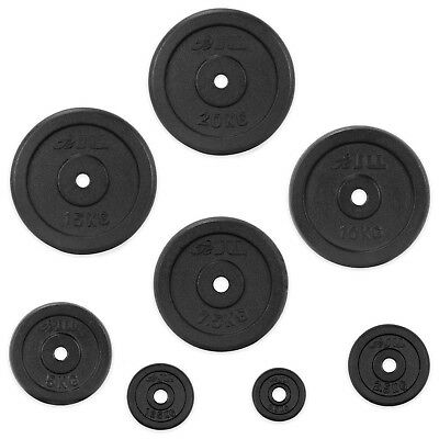 """JLL® Cast Iron 1""""Weight Plates for Dumbbell Weight Lifting Bars - 1.25kg to 20kg"""