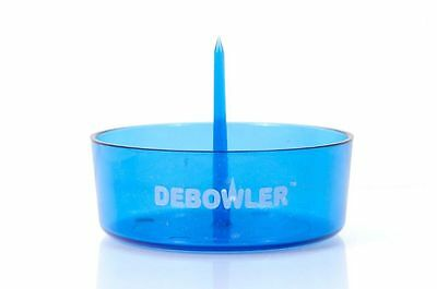 Debowler (Transparent Blue) Acrylic with Built in Poker, Made in Reno, NV U.S.A.