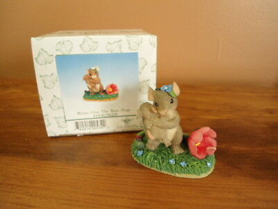 Fitz & Floyd Charming Tails Moms Give The Best Hugs Figurine in Box Signed