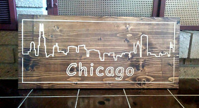Chicago Skyline Wall Sign