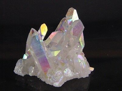BUTW Angel Aura Fume Plated Natural Quartz Healing Crystal Cluster Reiki 8360K