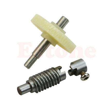 Metal Worm Wheel  Plastic Gear Reducer Reduction Gearset for DIY Accessories /_Q