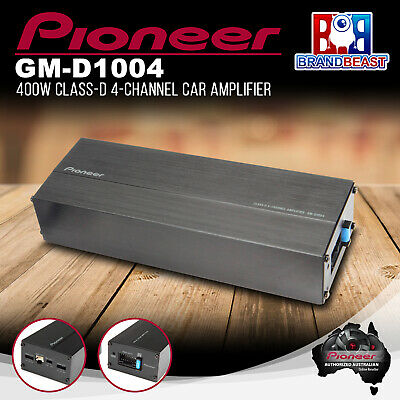 Pioneer Gm-D1004 Compact 4-Channel Car Amplifier 45 Watts Rms X 4 Gmd1004