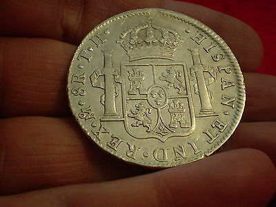 Bold Detail 1808 Mexico mint 8 Spanish Reales- Historic & Desirable In Hand 100%