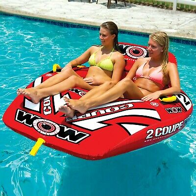 Wow Watersports 2 Person Coupe Cockpit Inflatable Towable Ski Tube (15-1030)