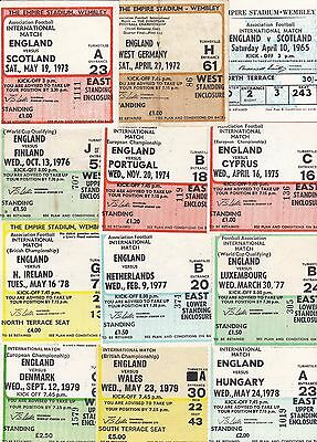 England Home Match Ticket Stubs ~ 1965 To 1983 ~ You Choose Opponents Post Free