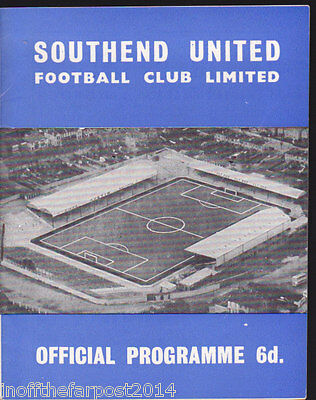1965/66 SOUTHEND UNITED V STOKE CITY 02-05-1966 Bentley Benefit Match