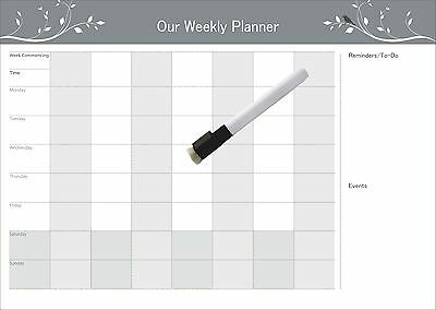 A3Magnetic Weekly  planner With Reminders & To-Do List, a free whiteboard marker