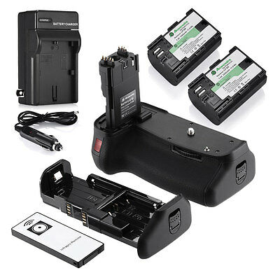 BG-E9 Battery Grip for CANON EOS 60D/60Da + 2X LP-E6 + Charger + Remote Control
