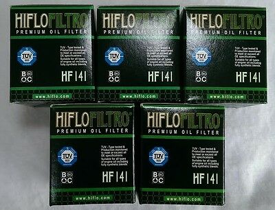 Yamaha WR450F (2003 to 2008) HifloFiltro Oil Filter (HF141) x 5 Pack