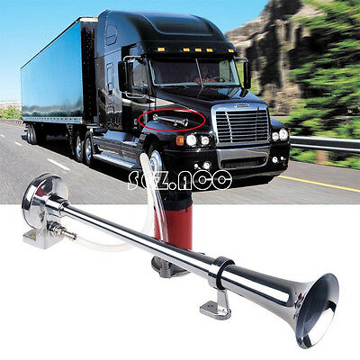 Car Boat Truck Lorry Super Loud Single Trumpet 12V 150db Air Horn Compressor UK
