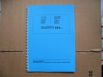 Ducati Bevel 860  860Gt- 860Gts Parts Book For 1974-1975 Models See Description