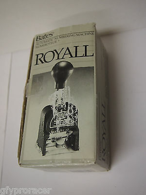 1964 - Bates Royall Automatic Numbering Machine (Model  RNM6-7) Box Included