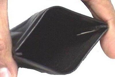 Genuine Leather Squeeze Coin Purse BLACK # 8029