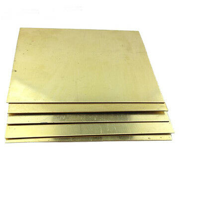 1pcs Brass Metal Sheet Plate 0.8mm x 100mm x 100mm