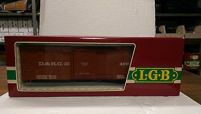 LGB G Scale 4067 Box Car- Denver and Rio Grande