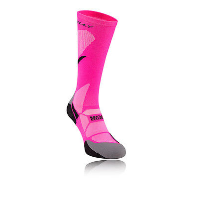 Hilly Vivid Womens Pink Compression Running Knee Height Sports Athletic Socks